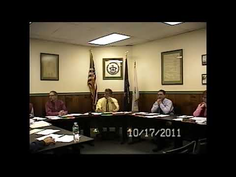 Champlain Village Board Meeting 10-17-11