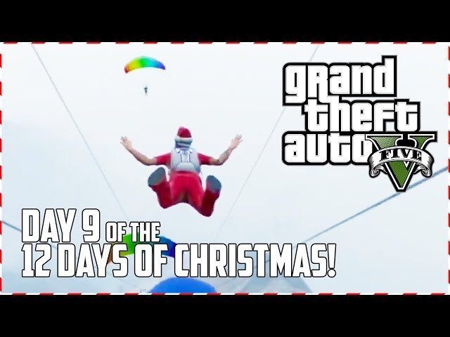 GTA 5 Online - Santa Wingsuit! (Day 9 of 12) (GTA V)