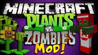Minecraft: Plants Vs. Zombies Mod PEA SHOOTERS