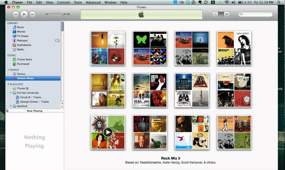 how to create a playlist in itunes genius