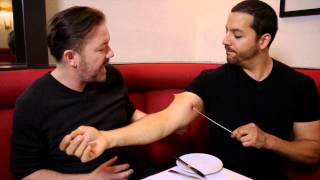 David Blaine Freaks Out Ricky Gervais