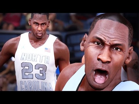 NBA 2k16 My Team Gameplay Ep. 2 - Michael Jordan Leading the UNC Tar Heels! Alley-Oops