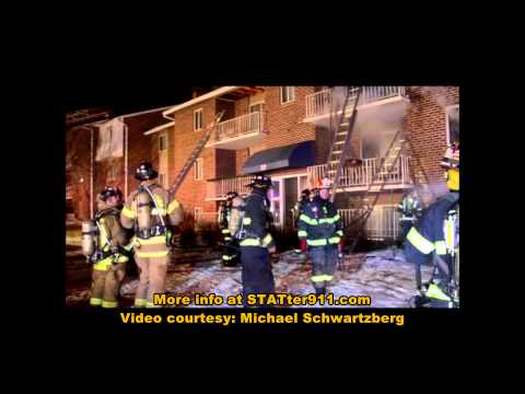 Raw video: 3-alarm Md. apartment fire