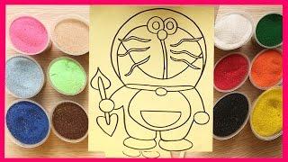 Đồ chơi trẻ em TÔ MÀU TRANH CÁT HÌNH ĐÔRÊMON BẢO BỐI THẦN KÌ Colored Sand Painting (Chim Xinh)