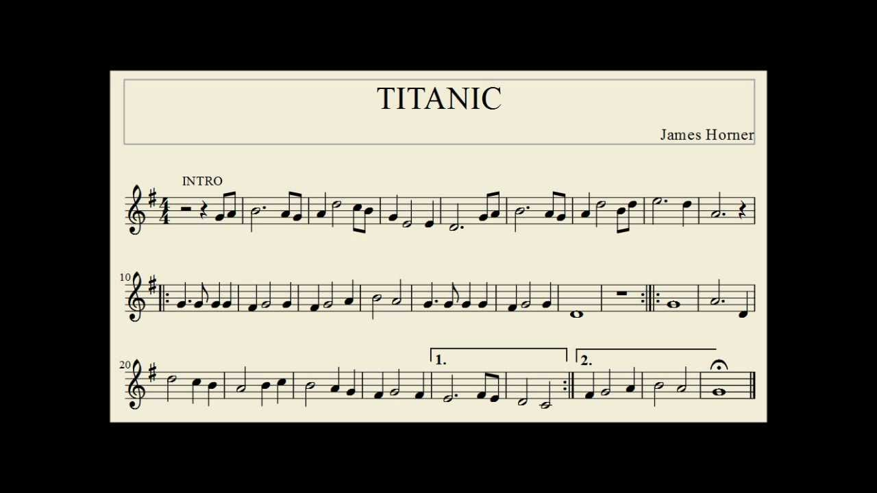 viewing gallery for titanic violin sheet music Car Tuning