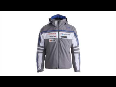 Descente Swiss Team Replica Mens Ski Jacket in Grey