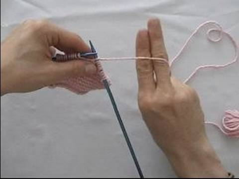 Basic Knitting Tips & Techniques : How to Hold Knitting Yarn