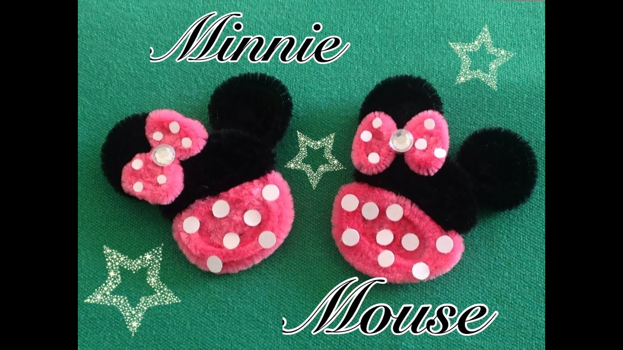 Minnie mouse hecha con limpia pipas pipe cleaners minnie - Manualidades minnie mouse ...