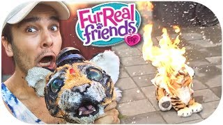 WHAT HAVE I DONE?! furReal Roarin' Tyler, the Playful Tiger TOY REVIEW