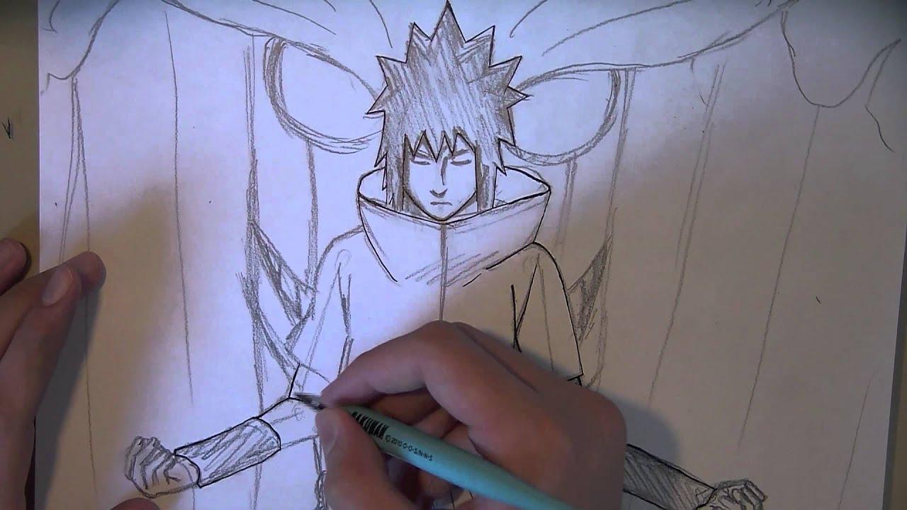 How to Draw Sas... Madara Uchiha Susanoo Drawing