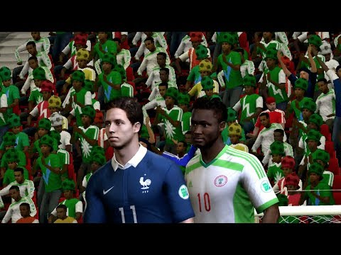 FIFA World Cup 2014: France vs Nigeria (Round Of 16) Simulation (EA FIFA World Cup 2014 Brazil)