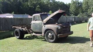 1951 Chevrolet 6100 Series 2 Ton Truck Pulling Out Of The