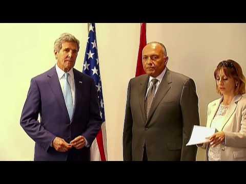 John Kerry, realizó visita a El Cairo y anuncia reinicio de ayuda militar. 23-06-2014