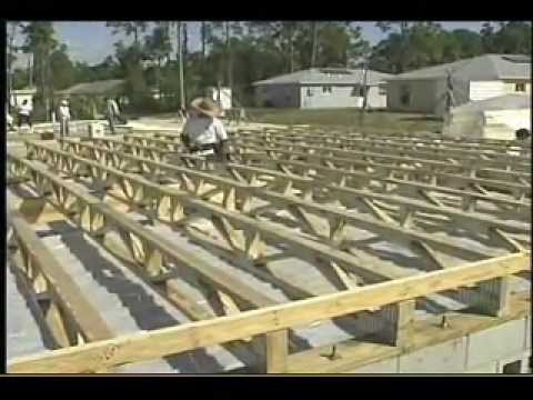 What is a raised wood floor foundation youtube for Raised pier foundation