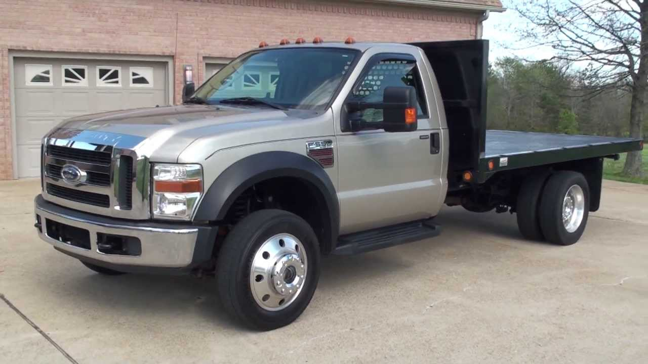 2008 F550 Towing Capacity >> HD VIDEO 2008 FORD F550 XLT 4X4 6-SPEED FLAT BED USED TRUCK DIESEL FOR SALE SEE WWW.SUNSETMILAN ...
