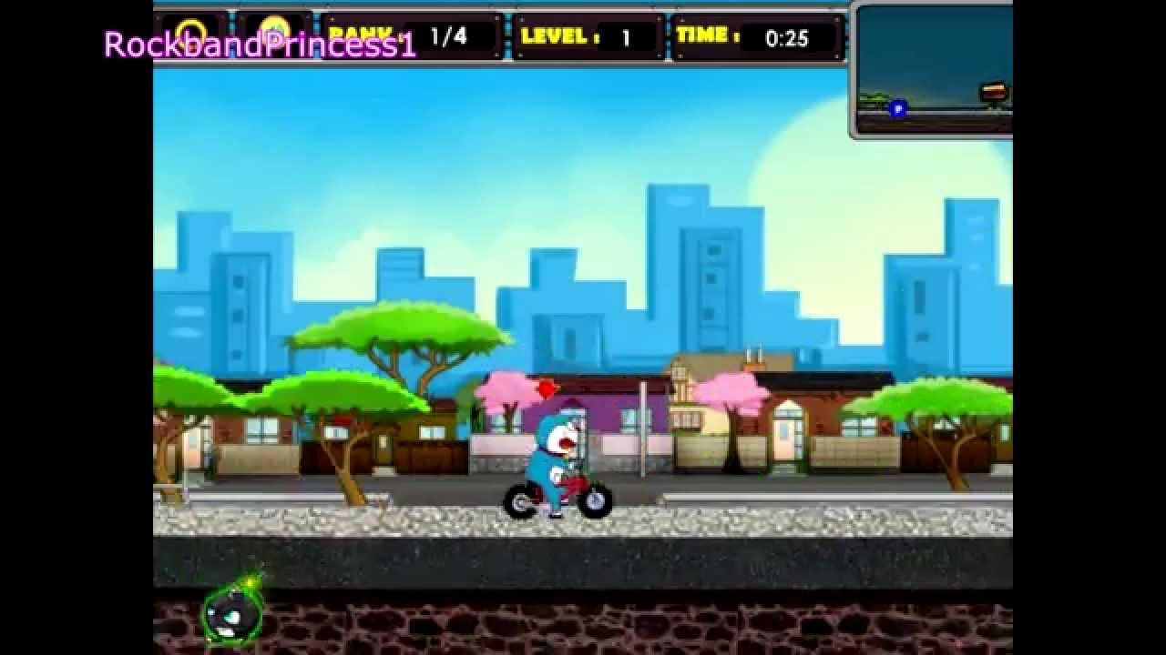 Doraemon games to play doraemon bicycle racing game youtube for Doraemon new games