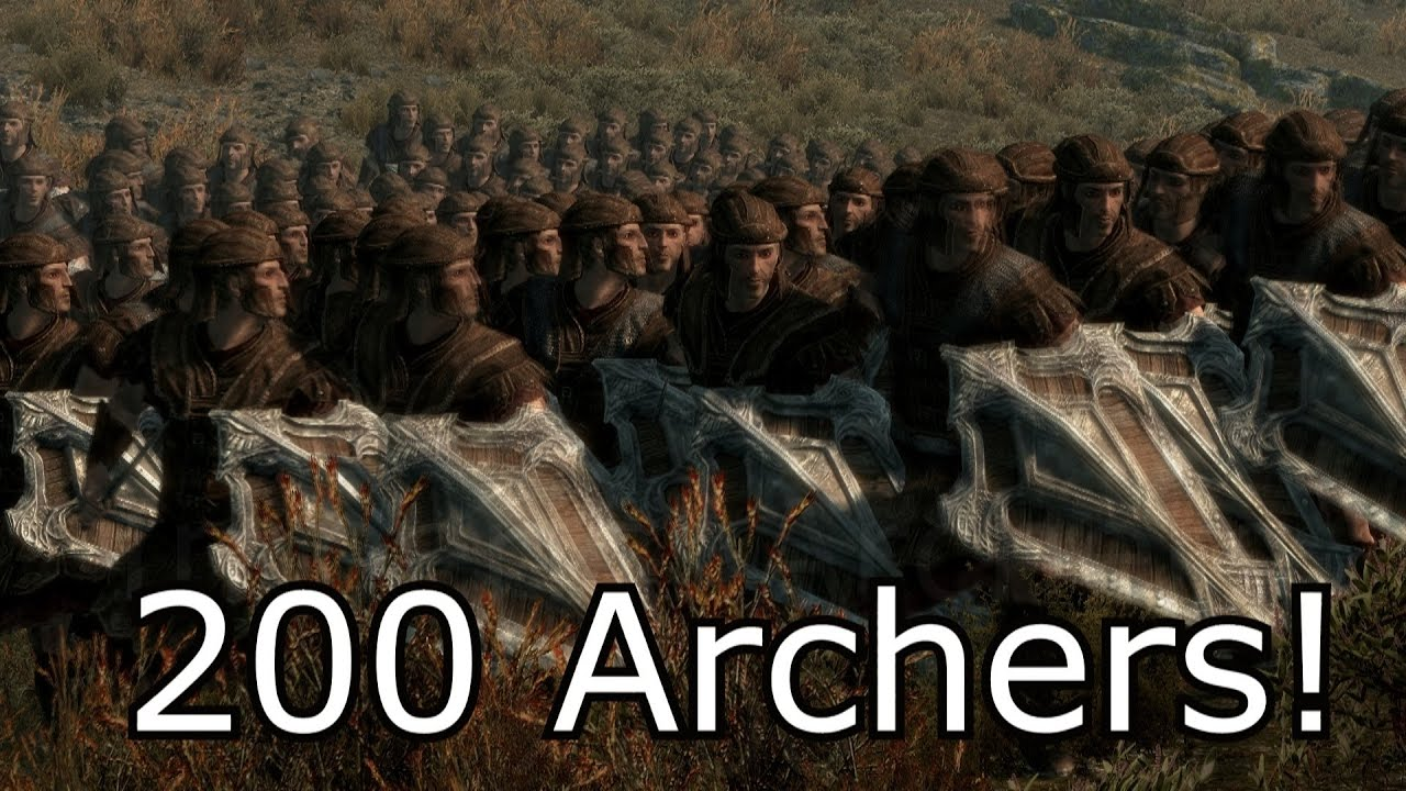 3 Legendary Dragons vs 200 Archers - YouTube