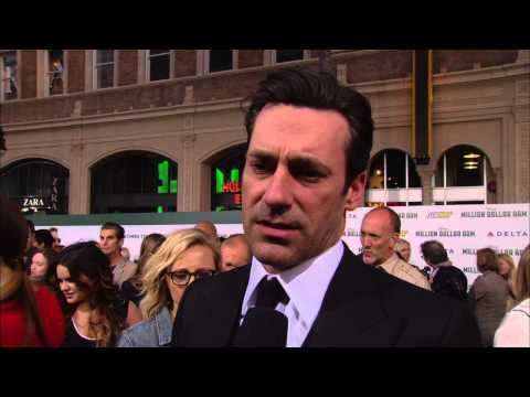 "Million Dollar Arm: Jon Hamm ""JB"" Movie Premiere Interview"