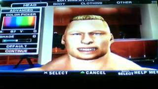 How To Make Brock Lesnar In SmackDown Vs Raw 2011 (PS2