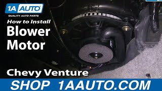 How To Install Replace Heat A/C Fan Or Blower Motor Chevy