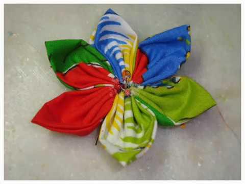 Flor de Tecido (Costurada) - Fuxico