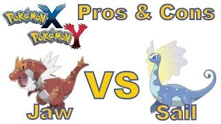 Pokemon X And Y 3DS Jaw Fossil Vs Sail Fossil! Pros