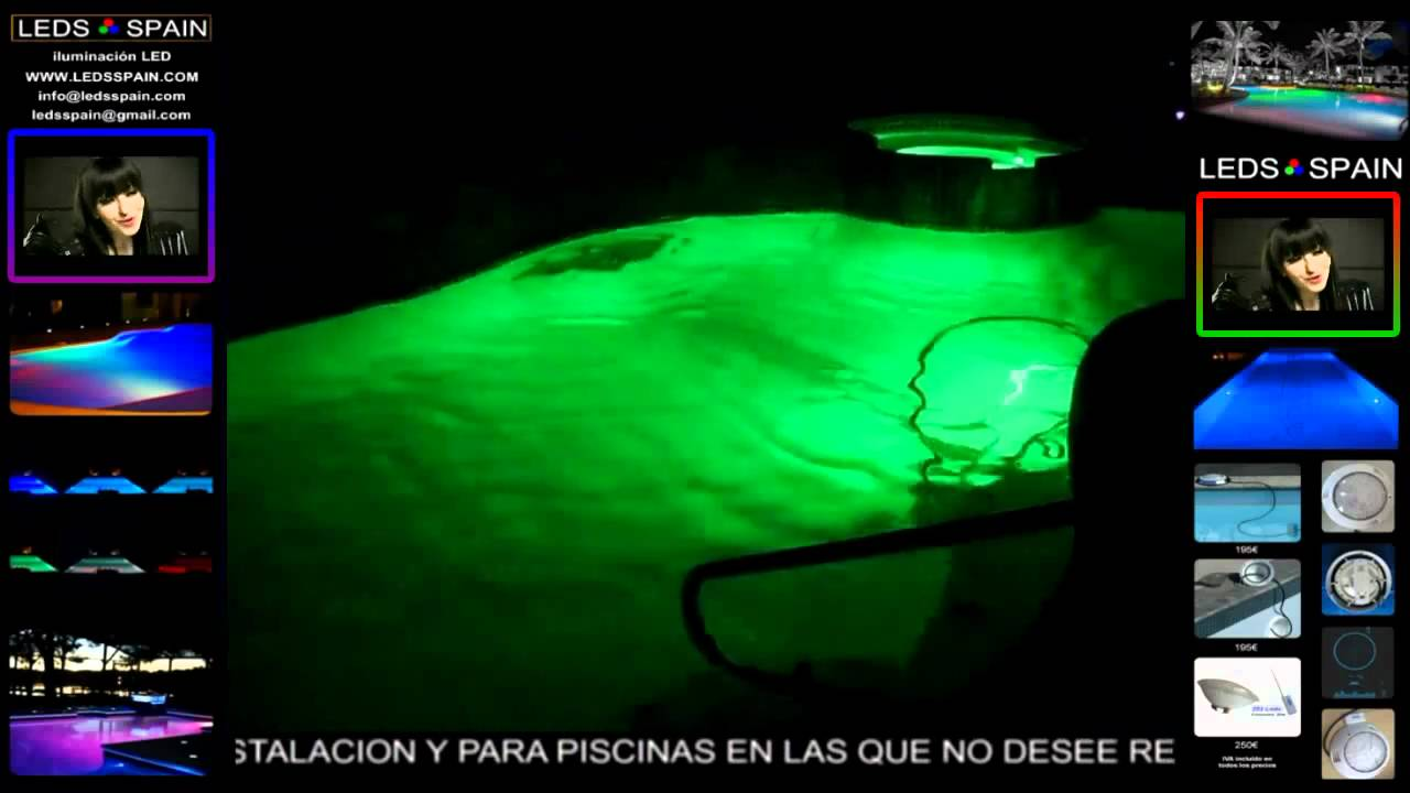 Iluminaci n led para piscina l mparas led 315 par 56 350 - Iluminacion piscinas led ...