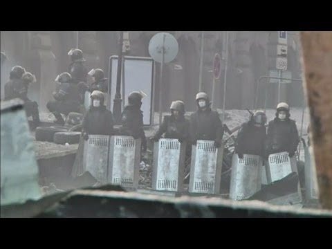 Violent protests continue in Ukraine capital, Kiev