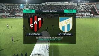 Fútbol en vivo. Patronato - Atl. Tucumán. Fecha 8. Torneo Primera B Nacional. FPT.