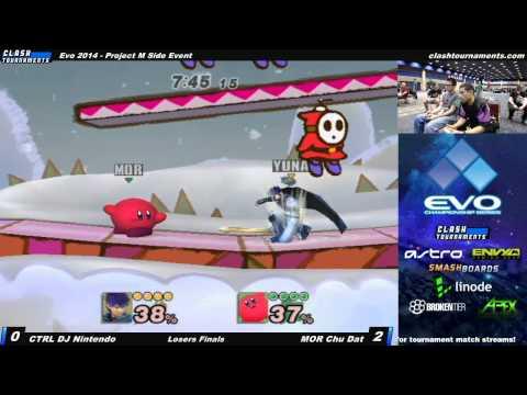 Evo 2014 - CTRL DJ Nintendo vs MOR Chu Dat - Losers Finals - Project M