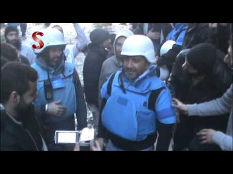 Homs -  UN inspectors freely react at the sieged Homs districts