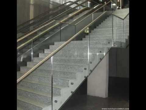 Scale interne a giorno in acciaio inox con montanti in - Disegni di scale interne ...