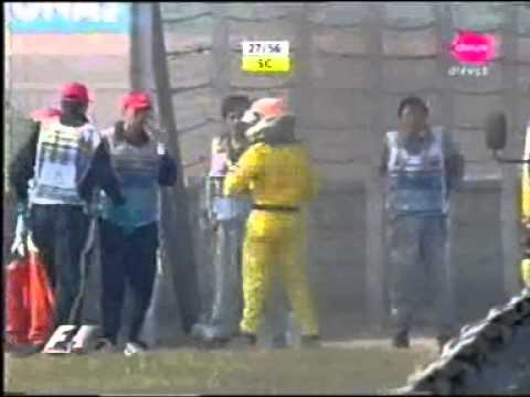 F1 2005 - China - Big crash Narain karthikeyan