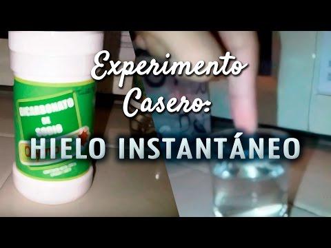 Experimento Casero: Hielo Instantáneo