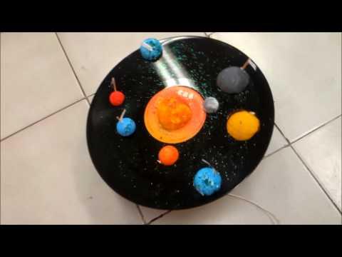¡Qué divertida es la Ciencia! (Maqueta del Sistema Solar Giratorio)