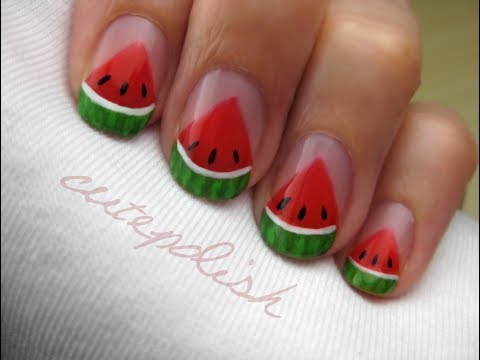 Watermelon Slice Nails