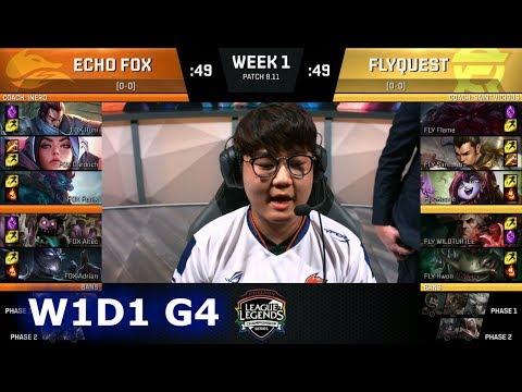 Echo Fox vs FlyQuest | Week 1 Day 1 S8 NA LCS Summer 2018 | FOX vs FLY W1D1