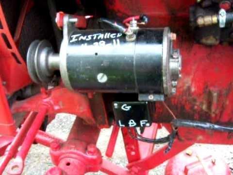 ih farmall super   volt positive ground generator