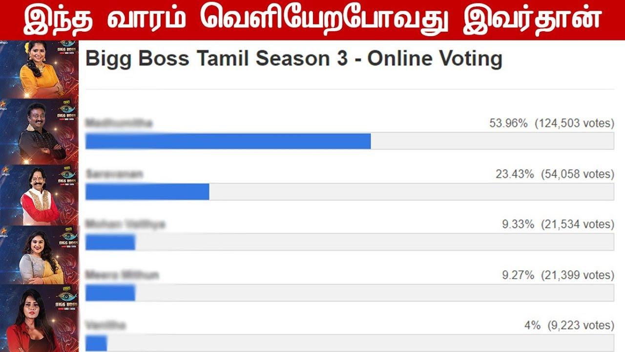 bigg boss tamil season 3 vote