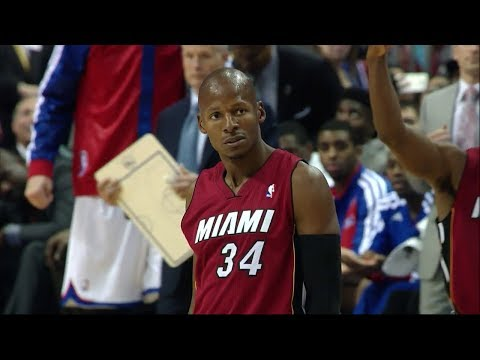 Ray Allen Full Highlights (Huge 3rd QTR.) at 76ers - 19 Points (2013.10.30)