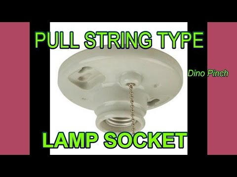 How To Replace A Pull Chain Light Fixture Also No String
