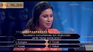 Kim Milyoner Olmak Ister 255. bölüm Ece Gözüsulu 30.07.2013