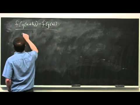 The Chain Rule and Inverse Functions - Differential Calculus