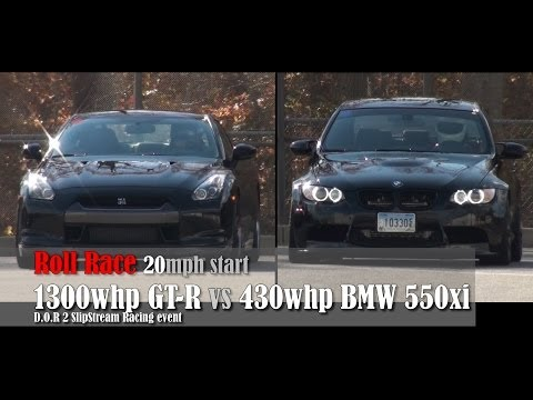 1300whp GT R vs 430whp BMW 550xi
