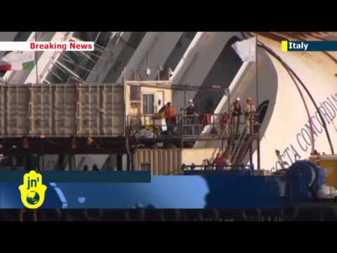Costa Concordia Salvage Operation: Lifting of wrecked cruise ship underway in Italy