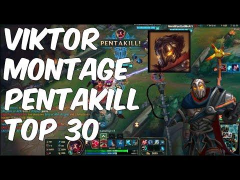 [Lol Pro Play] Viktor Montage Pentakill Top 30   SKT Faker Top Champion   League of Legends