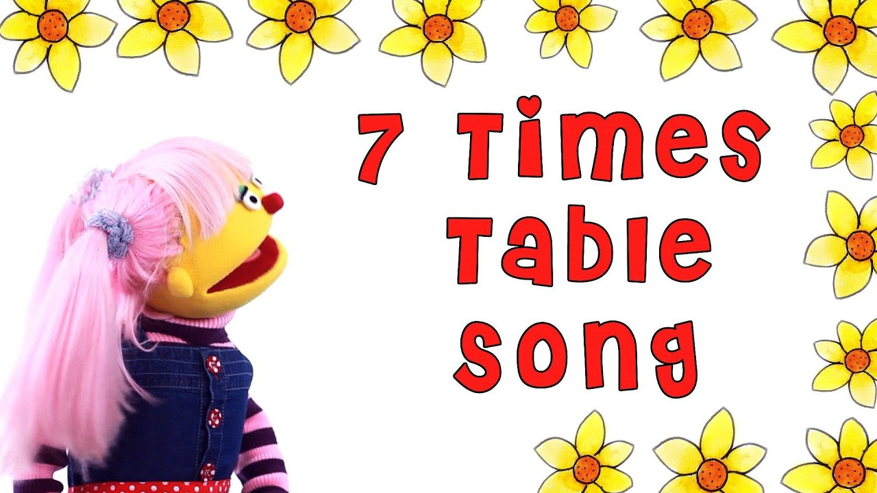 7 times table song youtube for 10 times table song