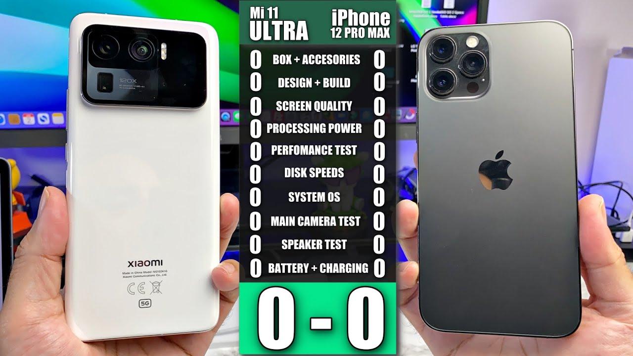 Xiaomi Mi 11 Ultra vs iPhone 12 Pro Max - Ultimate Smartphone Comparison! Clash of the Flagships!
