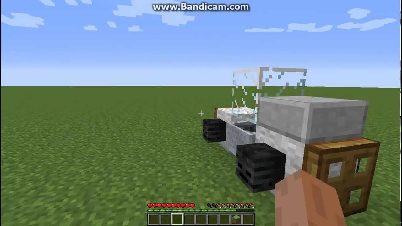how to build a motorcycle in minecraft