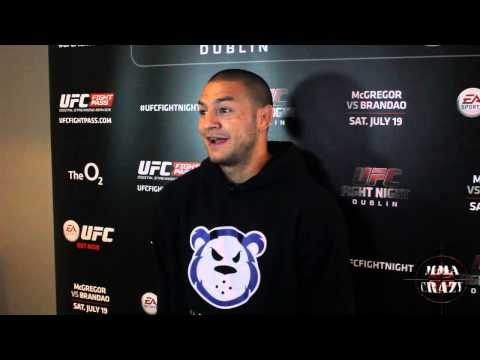 Cub Swanson UFC Fight Night Dublin Media Scrum